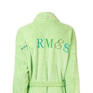 Hermés embroidered terry cloth bathrobe, small